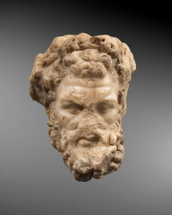 Marble head of a Silenos